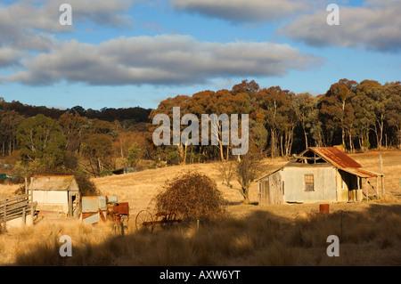 Homestead abandonné, près de Hargraves, New South Wales, Australie, Pacifique Banque D'Images