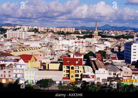 Skyline de Fort de France, Martinique, Petites Antilles, Antilles françaises, Caraïbes, Amérique Centrale Banque D'Images