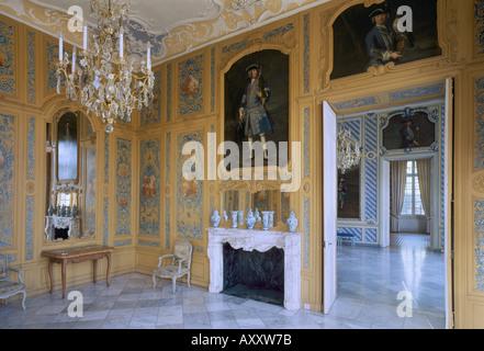 Brühl, Schloß Falkenlust, Speisezimmer mit Blick in den unteren Coiffure Banque D'Images