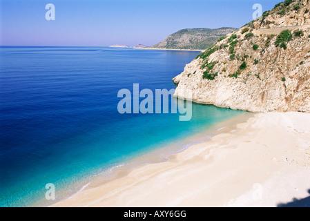 Plage de Kaputas, Lycie, Anatolie, Turquie, Asie Mineure, Asie Banque D'Images