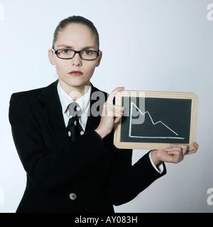 Portrait Portrait d'une belle jeune femme dans un costume costume Banque D'Images