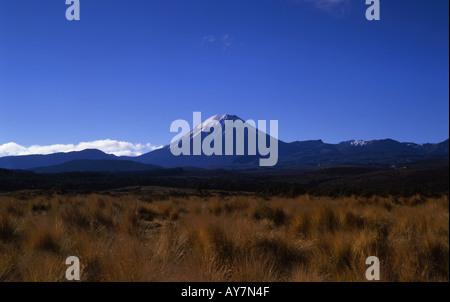 Mt Ngauruhoe Parc National de Tongariro Île du Nord Nouvelle-zélande Banque D'Images