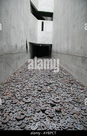 L'exposition Shalechet - feuilles tombées, dans la mémoire du peuple juif (Jüdisches Museum, Berlin). Banque D'Images