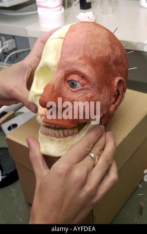 Laboratoire visage reconstruction maxillofaciale UK Banque D'Images