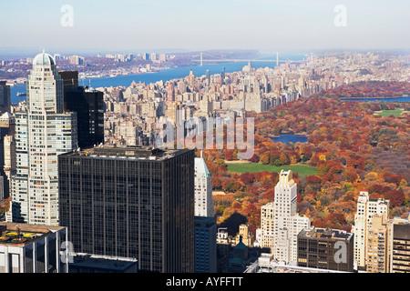 La ville de New York, Central Park Banque D'Images