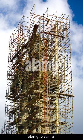 La 'Shri Mangal Mahadev statue' [en construction à 'Ganga Talao' ('Grand Bassin', Maurice) Banque D'Images