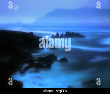 IE - comté de Kerry: Ballyferriter Bay sur la péninsule de Dingle Banque D'Images