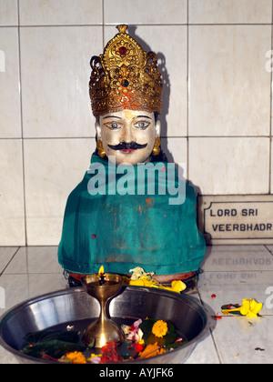 Ganga Talao Grand Bassin Maurice Temple Hindou Seigneur Veerabhadran fils de seigneur Shiva et est né pour détruire Banque D'Images