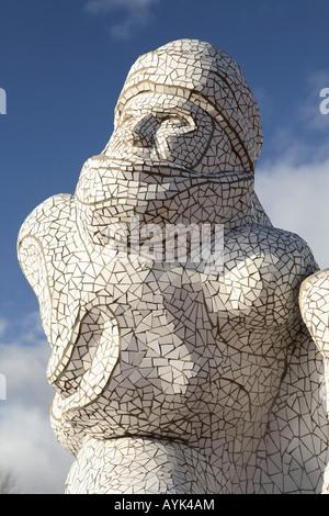 L'Antarctique Scott Memorial, Cardiff Bay Banque D'Images