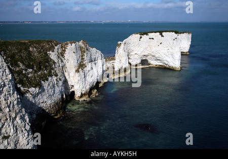 Clifs, vieille hary rock, Jurassic Coast Banque D'Images