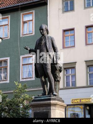 Wieland-Denkmal à Weimar, Thuringe Banque D'Images