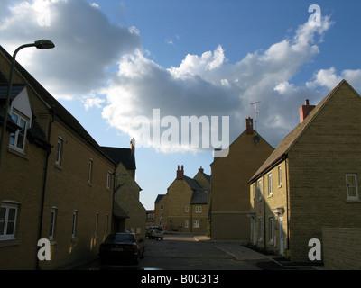 Offres et demandes de nouvelle construction sur la rue, Witney, Oxfordshire, England, UK Banque D'Images
