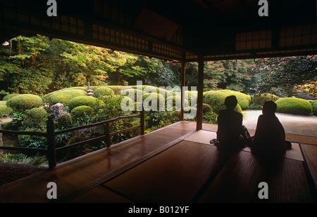 L'île de Honshu, Japon, Kyoto. Le Temple Shisendo a été construit en 1641 par le poète Ishikawa Jozan (1583-1672) Banque D'Images