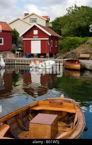 Village de pêcheurs idyllique Bohuslan Banque D'Images