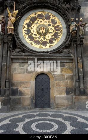 Horloge astronomique, Prague, République Tchèque Banque D'Images