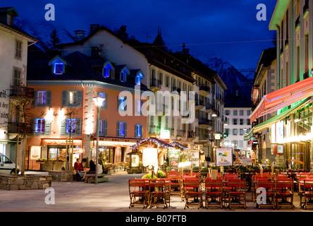 La ville de Chamonix Les Alpes France Europe