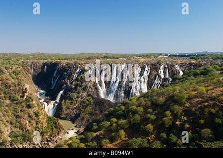 Ruacana Falls, rivière Kunene, Kaokoveld, Namibie, Afrique du Sud