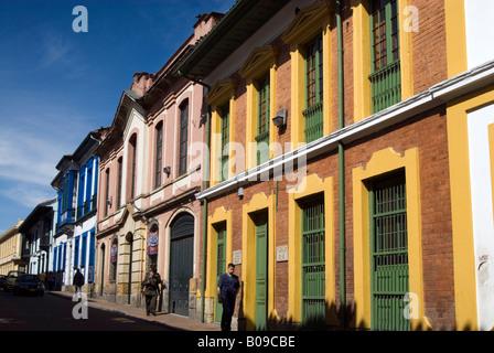 Dans la rue, La Candelaria Bogota, Colombie Banque D'Images
