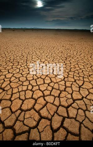 Paysage désertique dans le parc national de Sarigua dans la province de Herrera, République du Panama. Banque D'Images