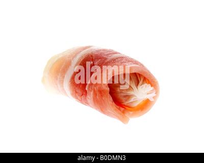 Saucisses au bacon Banque D'Images