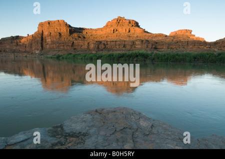 L'aube, Canyonlands National Park, Méandre Canyon, Colorado, Utah Banque D'Images