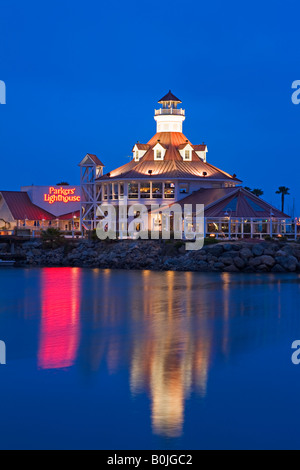 Parkers Lighthouse Restaurant Village Littoral Long Beach City Los Angeles California USA Banque D'Images