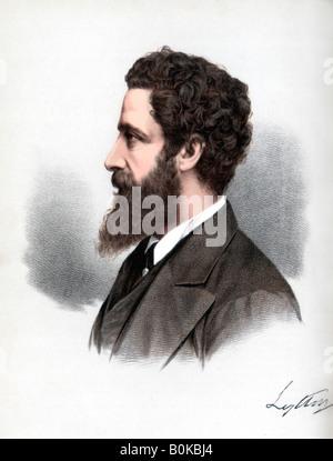 Robert Bulwer-Lytton, 1er comte de Lytton, poète et homme d'État anglais, c1890.Artist: Cassell, Petter & Galpin