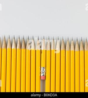 Crayons à court et long Banque D'Images
