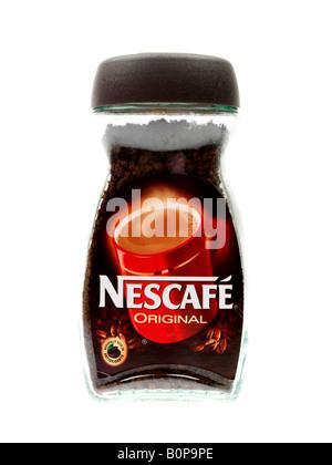 Pot de café instantané Banque D'Images