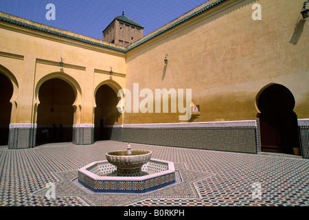 Maroc, Meknès, mausolée de Moulay Ismail Banque D'Images