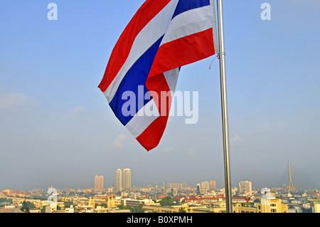 Panorama depuis le Mont d'or, de la Thaïlande, Bangkok Banque D'Images