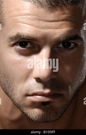 Portrait homme expressif Banque D'Images