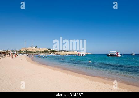 Plage Naama Bay, Charm el-Cheikh, côte de la mer Rouge, Egypte Banque D'Images