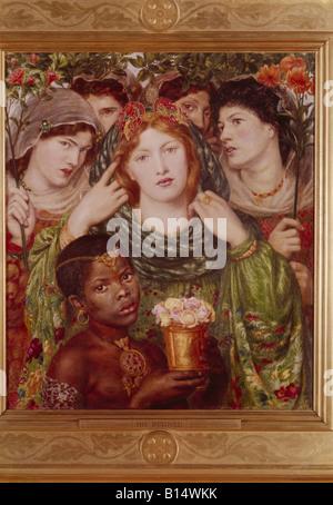 """Beaux-arts - Dante Gabriel Rossetti, (1828 - 1882), peinture, """"l'aimé"""", 1865 / 66, huile sur toile, Tate Gallery Banque D'Images"""