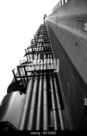 Architecture de Londres l'étonnant bâtiment Lloyds of London Banque D'Images