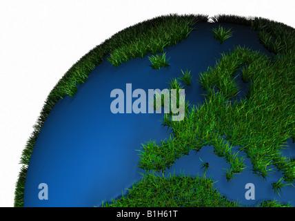 Globe couverte d'herbe Banque D'Images