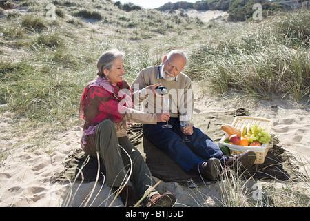 Senior couple having a picnic Banque D'Images