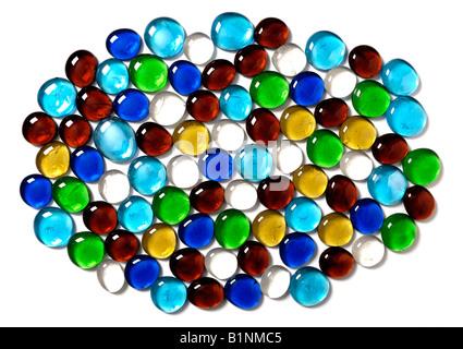 Perles de verre de couleur Banque D'Images
