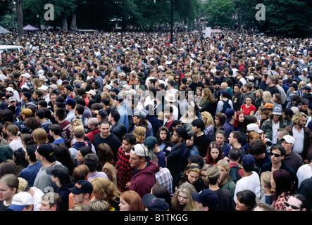 Concert de rock foule sur Boston Common