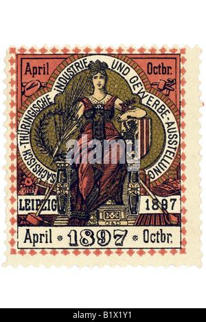 Thüringische Sächsisch Industrie und Gewerbe Ausstellung Leipzig 1897 Banque D'Images