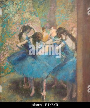 Danseurs bleu peinture à l'huile par Edgar Degas 1890 MUSÉE D'Orsay d Orsay Art Gallery and Museum Paris France Europe