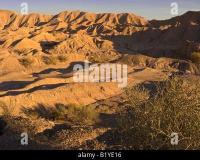 Badlands tertiaire secteur près du barrage Ullum, la province de San Juan Banque D'Images