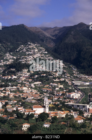 Vue panoramique de l'île de Madère Funchal Portugal Banque D'Images
