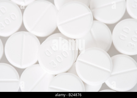 Close up of white pills Banque D'Images