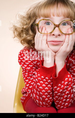 Portrait d'une jeune fille s'ennuyer lol Banque D'Images