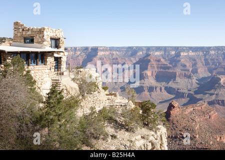 Lookout Studio au village du Grand Canyon en Arizona USA Banque D'Images
