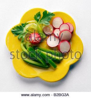 Les légumes sur la plaque Banque D'Images