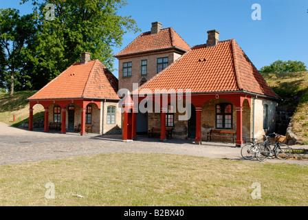 Passerelle historique sur l'île fortifiée de Kastellet, Copenhague, Danemark, Scandinavie, Europe Banque D'Images