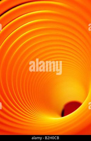 Résumé vue rapprochée d'un 'Slinky' toy Banque D'Images