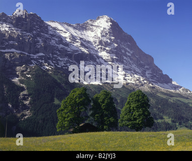 Géographie / voyages, Suisse, Berne, paysages, Alpes Bernoises, Additional-Rights Clearance-Info Eiger,--Not-Available Banque D'Images